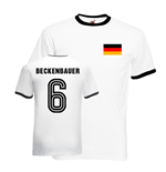Franz Beckenbauer Germany Ringer Tee (white-black)