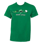 Irish Yoga St. Patrick's Day Kelly Green Graphic TShirt