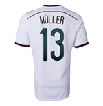 2014-15 Germany World Cup Home Shirt (Muller 13)