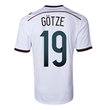 2014-15 Germany World Cup Home Shirt (Gotze 19)