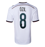 2014-15 Germany World Cup Home Shirt (Ozil 8)