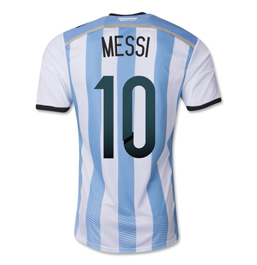 more photos 64ee4 76401 2014-15 Argentina World Cup Home Shirt (Messi 10)