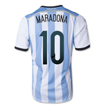 2014-15 Argentina World Cup Home Shirt (Maradona 10)