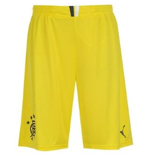 2013-14 Rangers Home Goalkeeper Shorts (Yellow) - Kids