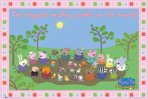 Peppa Pig Muddy Puddle Maxi Poster