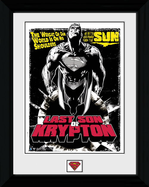 Superman Last Son of Krypton Framed Print