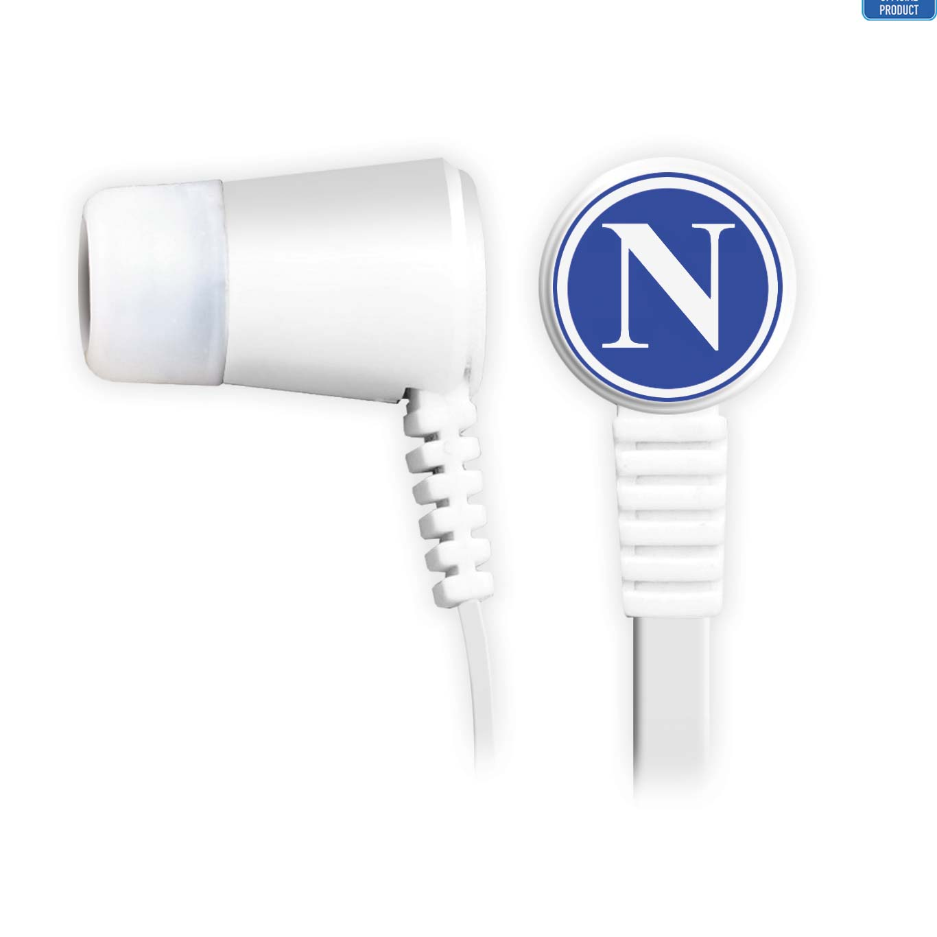 SSC Napoli Earbuds with remote and mic