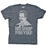 SEINFELD Soup Nazi No Soup For You Blue Graphic TShirt