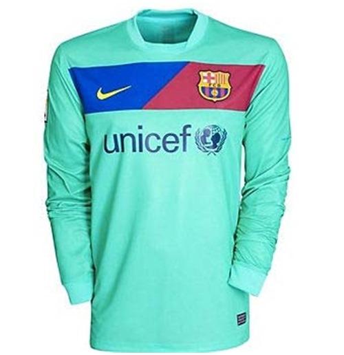 huge selection of e3f20 6f142 2010-11 Barcelona Away Long Sleeve Nike Football Shirt