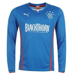2013-14 Rangers Puma Long Sleeve Home Shirt