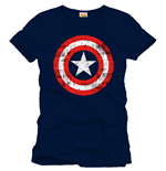 Captain America T-Shirt Shield Logo navy