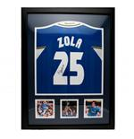 Chelsea F.C. Zola Signed Shirt (Framed)