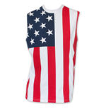 USA PATRIOTIC American Flag Stars And Stripes Men's Muscle Tank Top Shirt