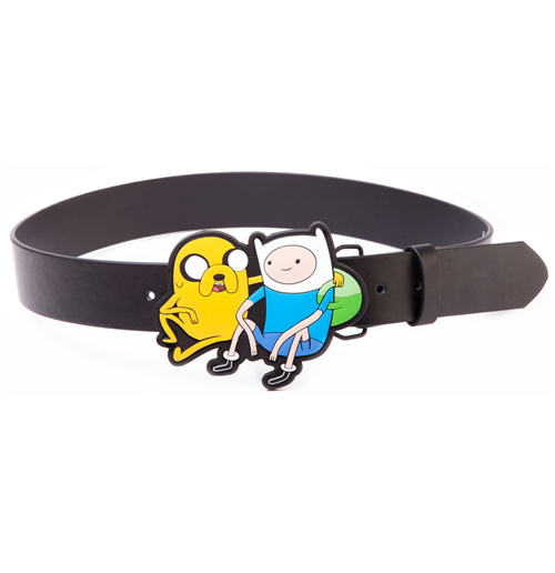 ADVENTURE TIME Black Belt with Jake & Finn 2D Buckle, Extra Large