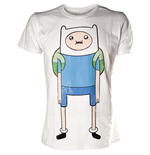 ADVENTURE TIME Finn Print Extra Large T-Shirt, White