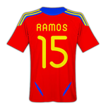 2011-12 Spain Home Football Shirt (Ramos 15)