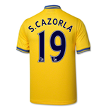 2013-14 Arsenal Away Shirt (S.Cazorla 19)