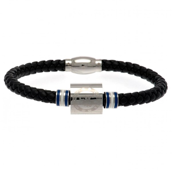 Chelsea F.C. Colour Ring Leather Bracelet