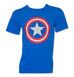 Men's Royal Blue CAPTAIN AMERICA Shield Tee Shirt