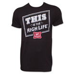 MILLER High Life Black Men's This Is The Life Tee Shirt