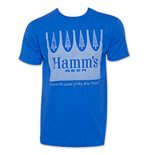 HAMM'S Blue Men's Crown Beer Tee Shirt