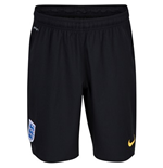 2014-15 England Nike Home Goalkeeper Shorts (Black) - Kids