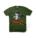 WORMS Taste My Bazooka Small T-Shirt, Military Green