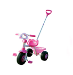 HELLO KITTY Kids Pedal Tricycle with Push Bar