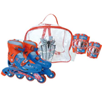 THE AMAZING SPIDER-MAN Inline Roller Skates Set (34 - 37) (Bag, Skates, Protective Knee/Elbow Pads)