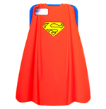 DC COMICS SUPERMAN 2D Silicon Cape Shape Cover for iPhone 5, Red/Blue