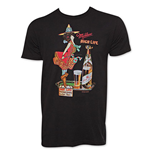 MILLER High Life Vintage Milwaukee Ad Black T-Shirt