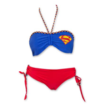 SUPERMAN Cheeky Short Women's Braided Bandeau Bikini