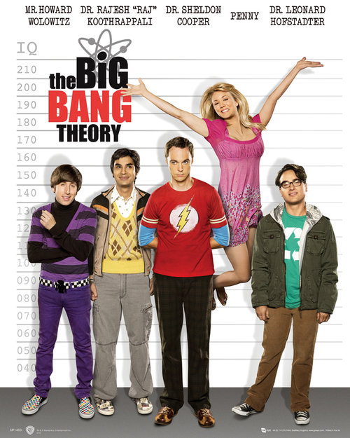 The Big Bang Theory Line Up Mini Poster