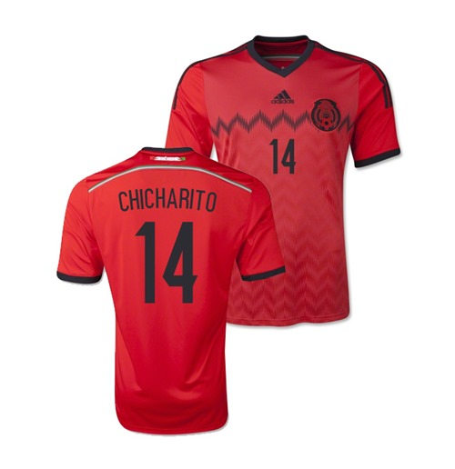 wholesale dealer 210e3 a0115 2014-15 Mexico World Cup Away Shirt (Chicharito 14) - Kids