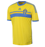 2014-15 Sweden Home Adidas Football Shirt (Kids)
