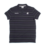 2013-14 Scotland Macron Striped Polo Shirt (Navy)