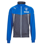 2013-14 Rangers Puma Rain Jacket (Blue) - Kids
