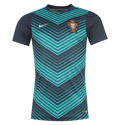 Buy Official 2014-15 Portugal Nike Pre-Match Training Jersey (Navy) db8d565c7b53d