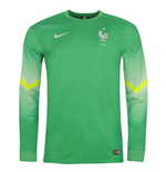 2014-15 France Home World Cup Goalkeeper Shirt (Green)