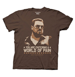 The Big Lebowski World Of Pain Brown Graphic T-Shirt