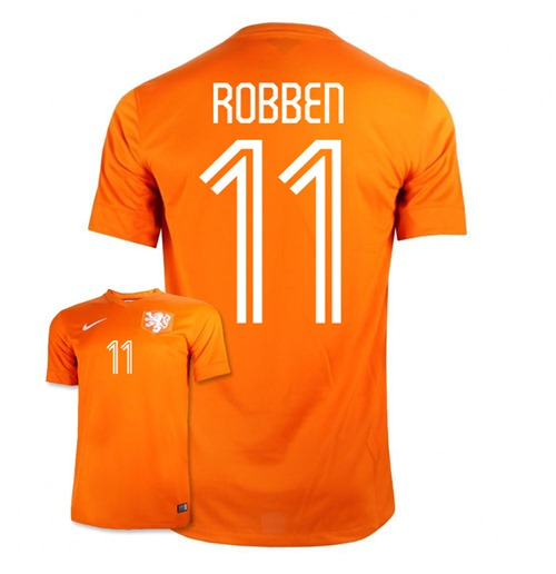 new style d3e06 4c72e 2014-15 Holland World Cup Home Shirt (Robben 11)