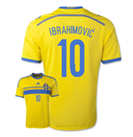 2014-15 Sweden Home Shirt (Ibrahimovic 10) - Kids