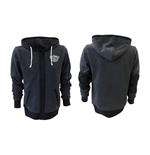 JACK DANIEL'S Classic Old No. 7 Medium Hoodie with Full Length Front Zipper, Grey
