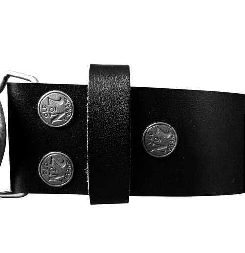JACK DANIEL'S Black Belt with Classic Old No. 7 Metallic Silver Oval Belt Buckle, Extra Large