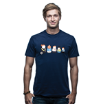 Matryoshka T-Shirt // Marine Blue 100% cotton