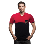Belgium Pocket V-Neck T-Shirt // Red - Black 100% cotton