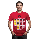 Belgium's Famous Haircuts T-Shirt // Red 100% cotton