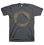 THE ELDER SCROLLS ONLINE Ouroboros Symbol Medium T-Shirt, Dark Grey