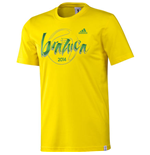 2014 Adidas World Cup Brazuca T-Shirt (Yellow)