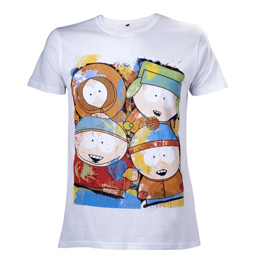 South Park T-Shirt Painted Characters